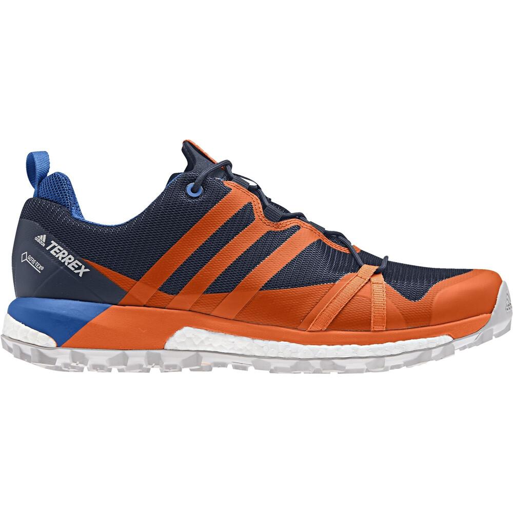 adidas Uomo Terrex Agravic Gore Tex Scarpe Da Corsa Ginnastica Blu Arancione